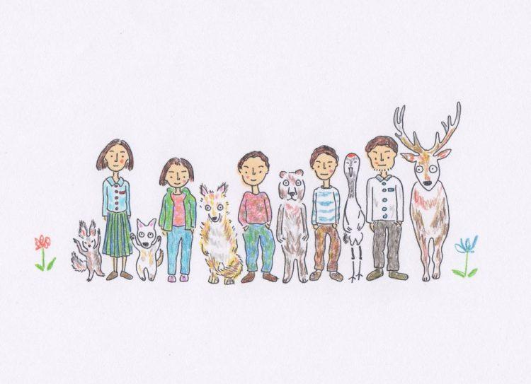 福井市で森石おまりさんの原画展。 宮下奈都さん連載エッセーの挿絵55点を見に行こう!