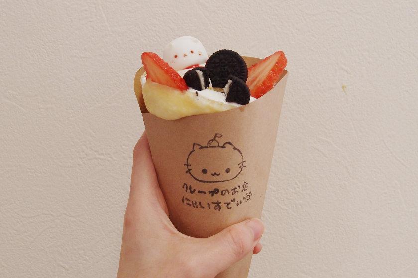 「にゃいすでぃ」のクレープが、かわいすぎて食べられにゃい。福井市の小さなお店です。