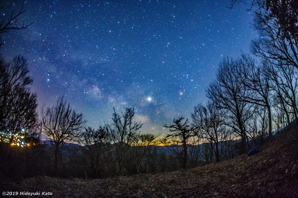 山城跡の星空!永平寺町の城山(波多野城跡) で星を見てきました!【ふくい星空写真館】