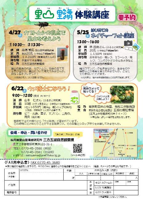 里山里海湖体験講座「ウメ博士になろう!」