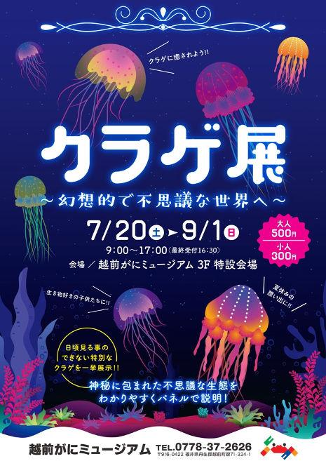 【越前がにミュージアム】「クラゲ展 ~幻想的で不思議な世界へ~」