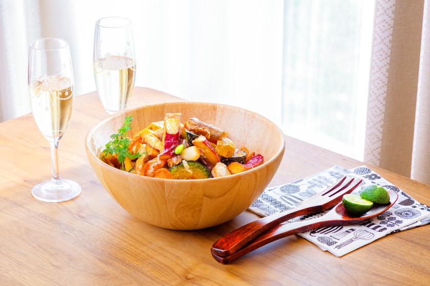 ◎10月のごちそうレシピ◎「秋の実りのごちそうサラダ」