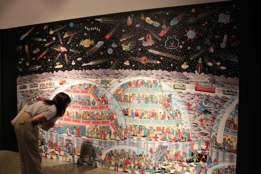 福井市美術館で開催中の「誕生30周年記念 ウォーリーをさがせ!展」は時間を忘れるほど面白かった! 大人も子どもも楽しめます。
