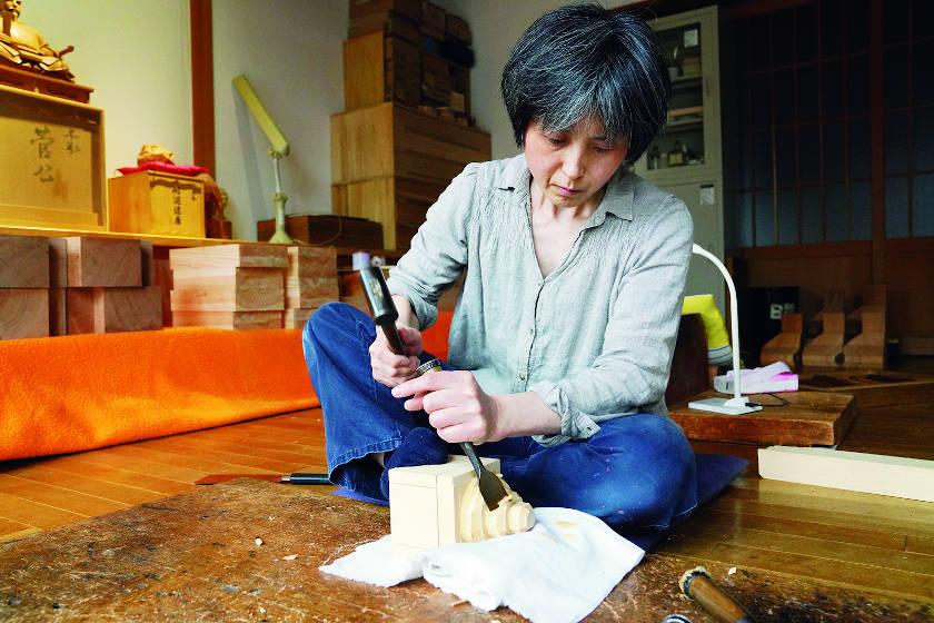 鈴木彫刻所・鈴木美央さんと「ノミと砥石」【ふくいの人と道具】