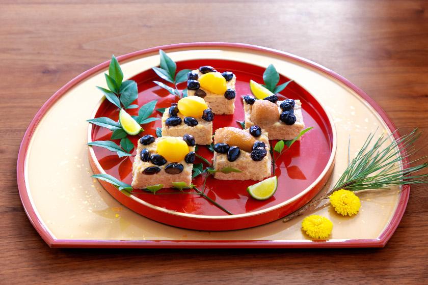 ◎1月のごちそうレシピ◎「芋栗豆の松風焼き」