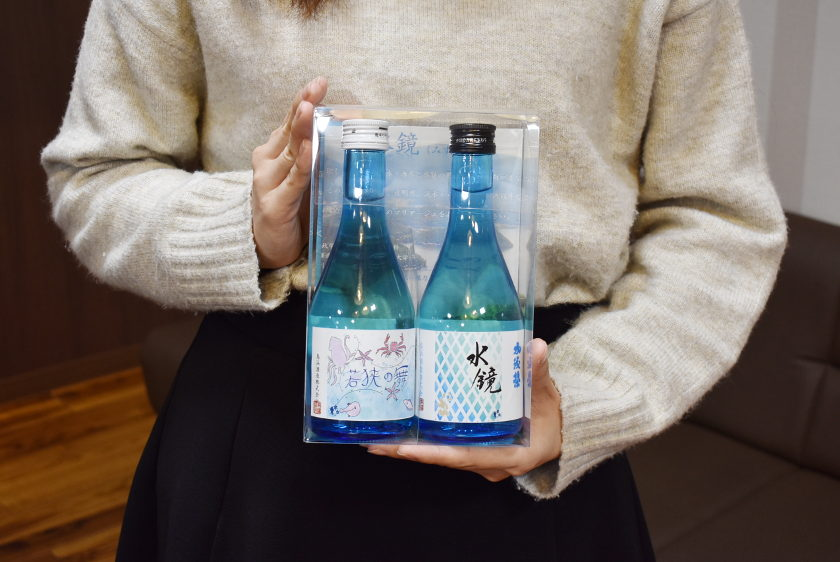 女子大生が日本酒ラベルを考案!若狭町の鳥浜酒造から新ラベル酒が発売されたよ。