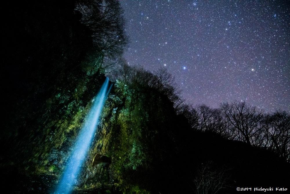 水しぶきを浴びながら星空観察!?勝山市の弁ヶ滝で星を見てきました!【ふくい星空写真館】