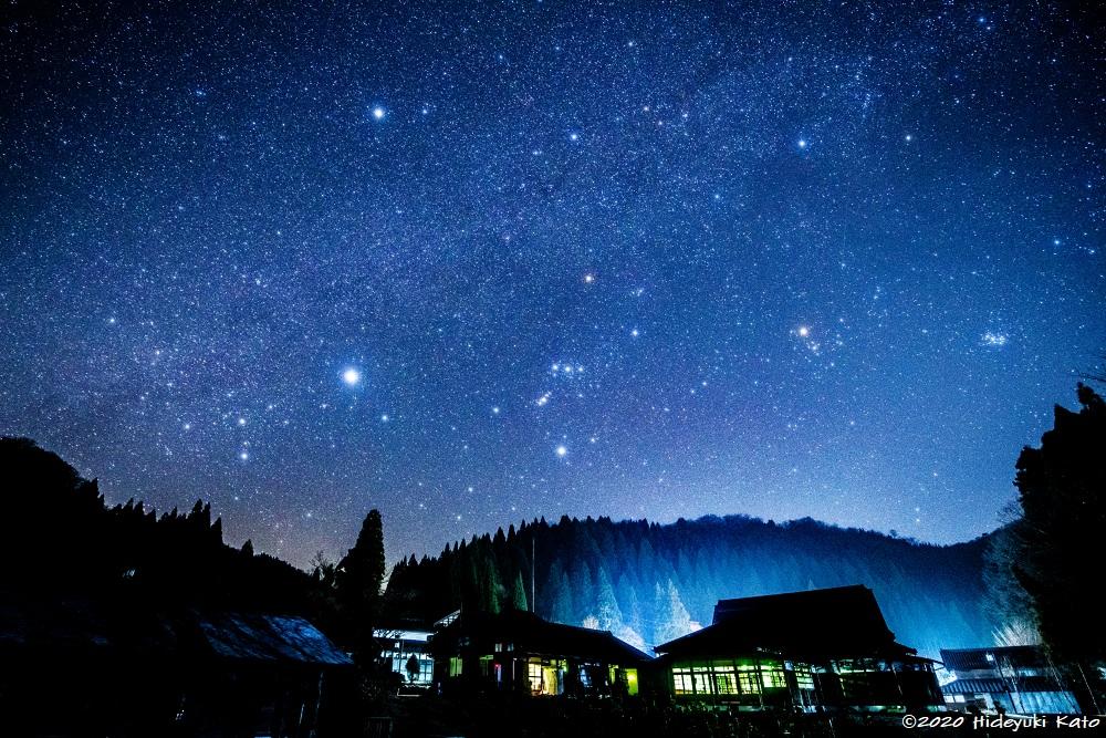 まるで北斗七星が水車を回す!?池田町の水車広場で星を見てきました!【ふくい星空写真館】