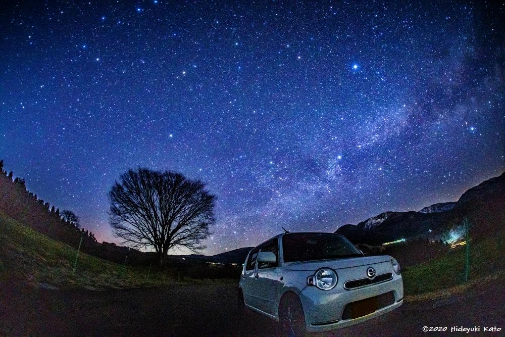 六呂師高原に昇る天の川!大野市の円山公園周辺で星を見てきました!【ふくい星空写真館】