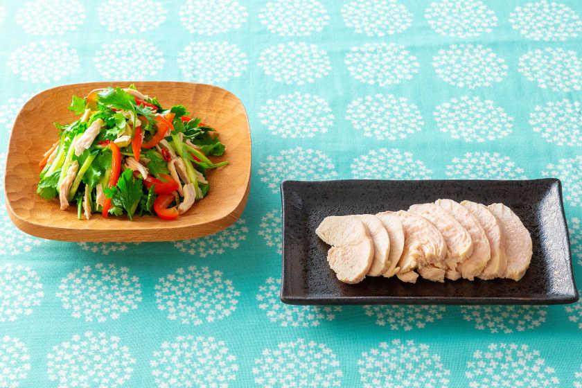 食べて疲労回復 & 筋力アップ! サラダチキンの簡単レシピ。