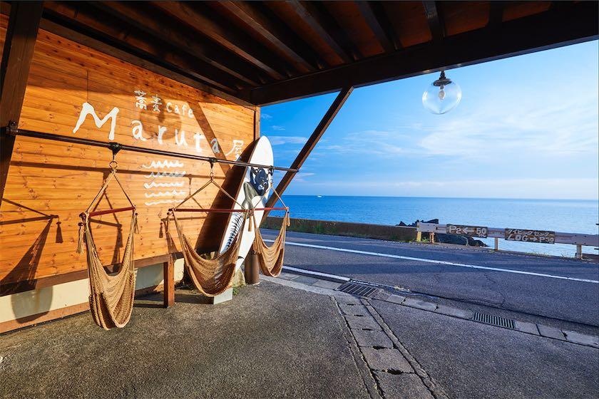 海が見える! 遊び心満載カフェで親子時間♪ 〜蕎麦cafe Maruta屋〜【越前町】