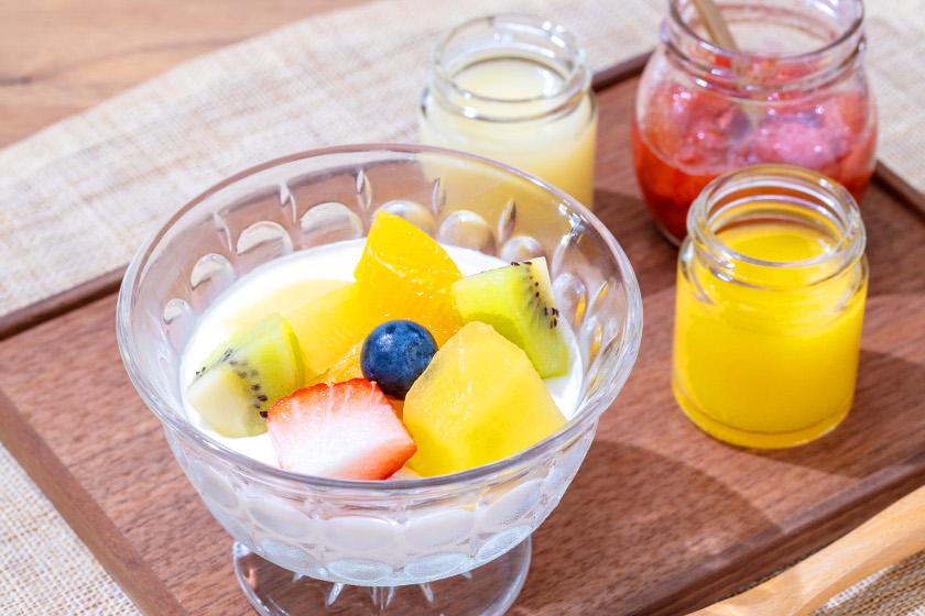 ◎7月のごちそうレシピ◎「甘酒のババロア 3種のフルーツソース」