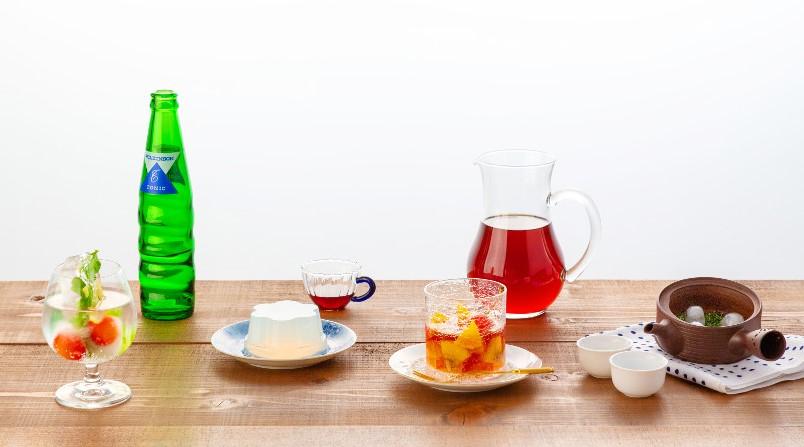 """夏に涼を届ける""""水レシピ""""4選。すっきり爽やか水出しドリンクや、見た目も味わいもクリアなデザートをご紹介。"""