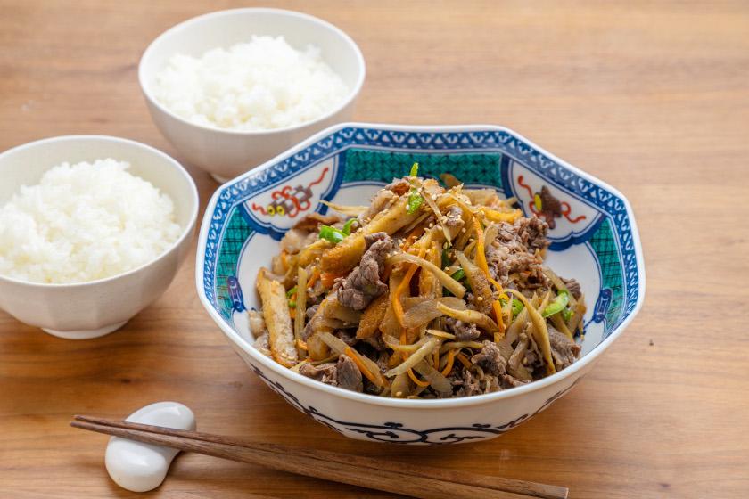 ◎9月のごちそうレシピ◎「牛肉とごぼうの甘辛煮」