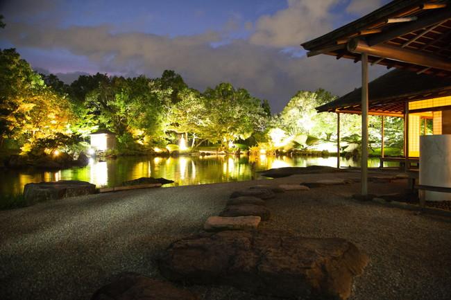 名勝 養浩館庭園 秋のライトアップ