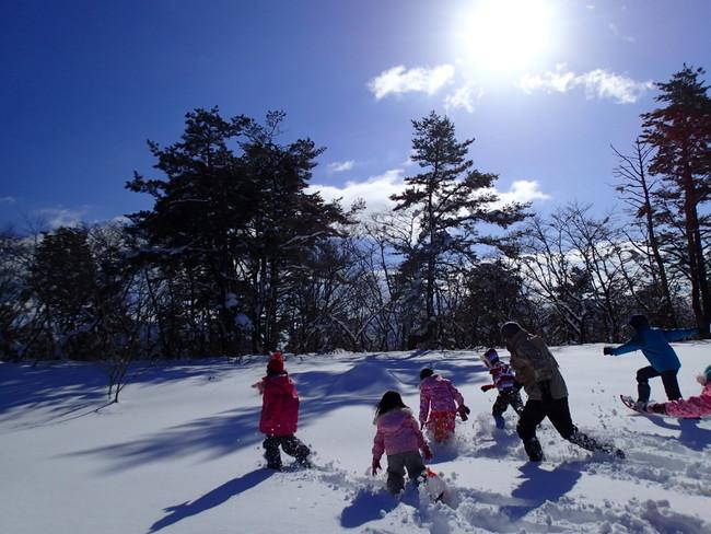 思いっきり雪遊び