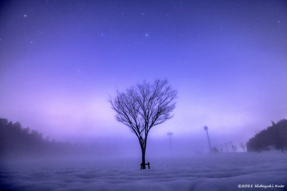 幻想的な雪原の星空! 永平寺町のyou meパークで星を見てきました!【ふくい星空写真館】