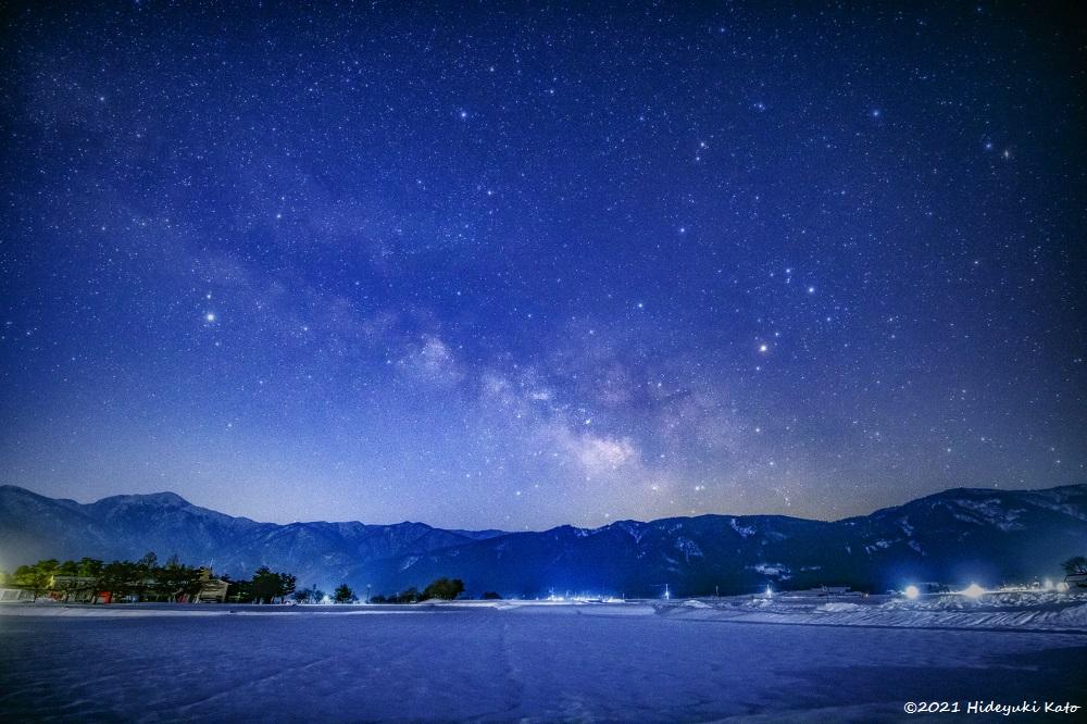 早春に昇る天の川! 大野市のどんグリーン広場で星を見てきました!【ふくい星空写真館】