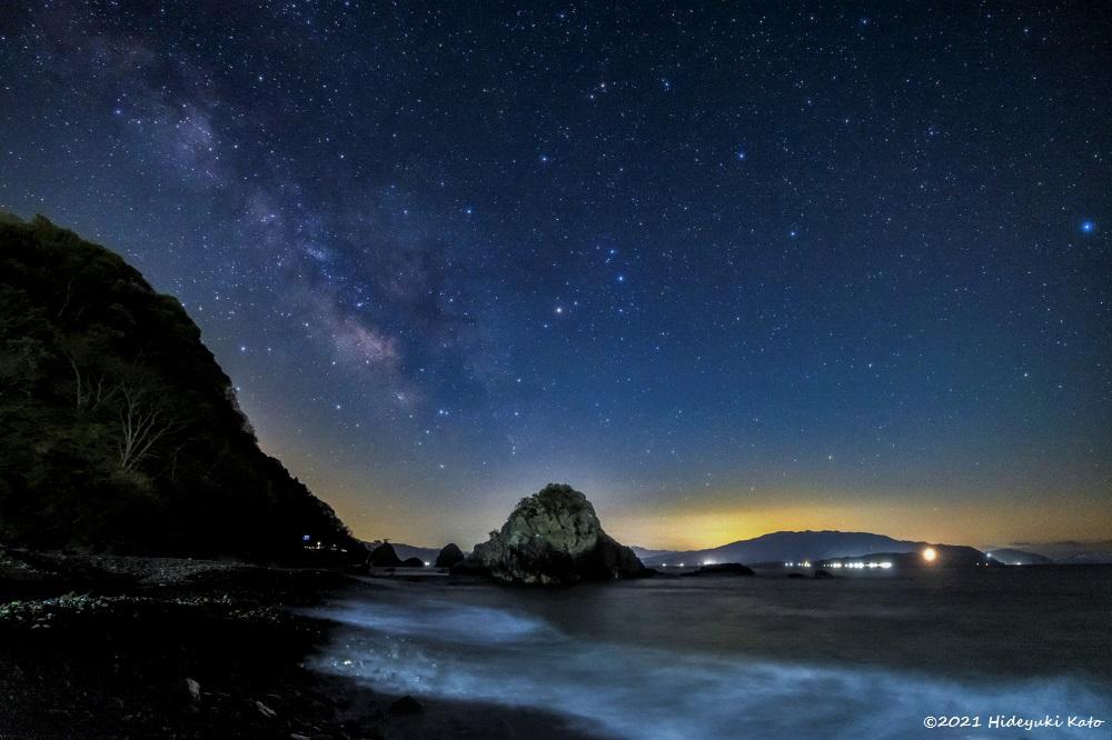 越前海岸に昇る天の川! 南越前町の河野ふれあいシーサイドパークで星を見てきました!【ふくい星空写真館】