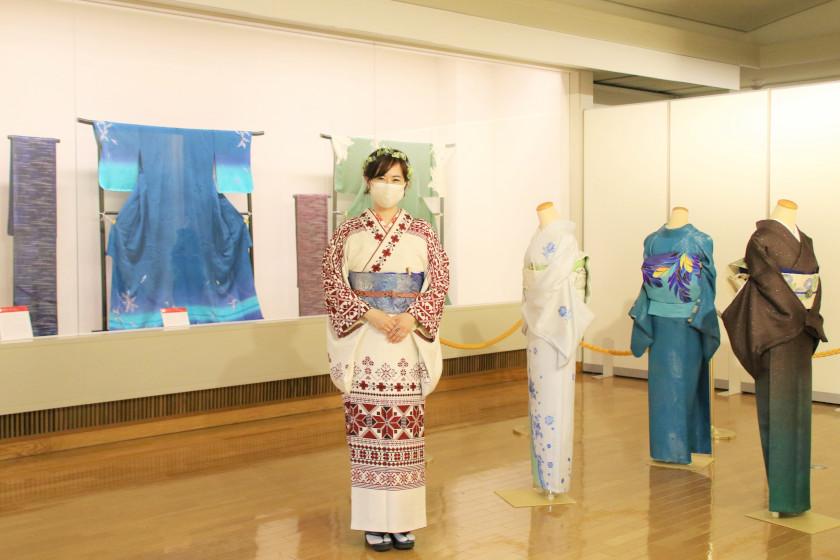 越前市出身の京友禅染色作家・奥野むつみさんの個展が5月30日まで開催中。日本と世界を繋ぐ着物を見に行こう♪