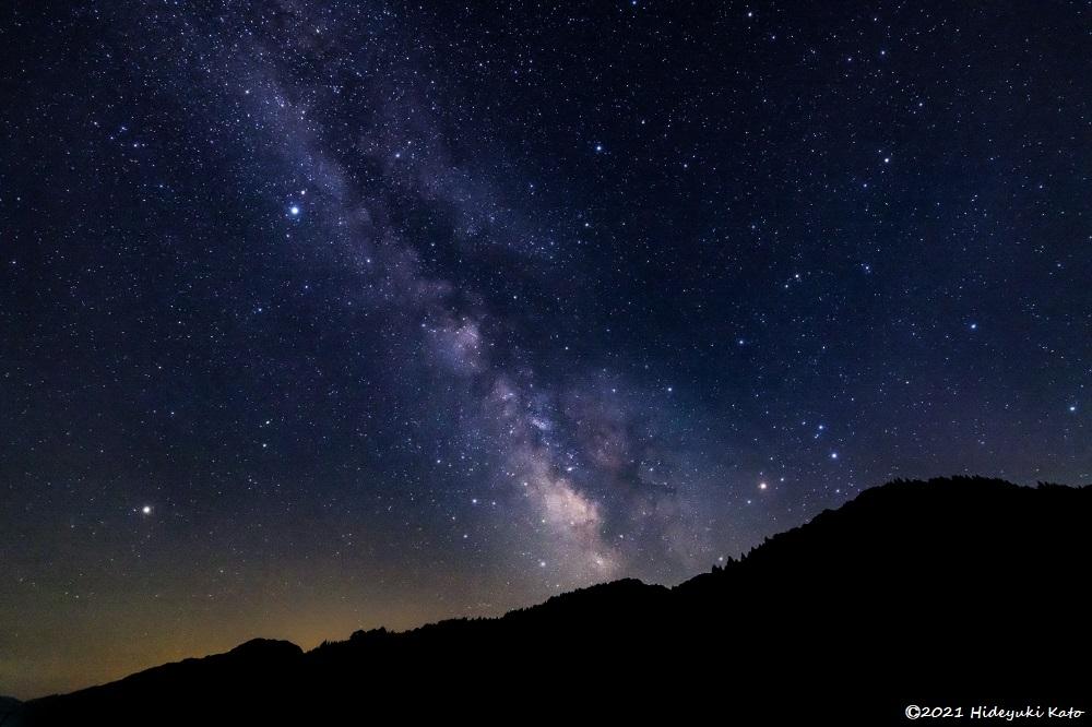 里山に昇る天の川! 福井市の伊自良の里で星を見てきました!【ふくい星空写真館】