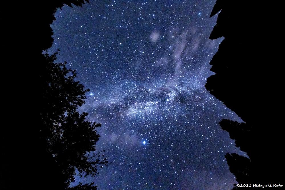 頭上に広がる天の川! 池田町の龍双ヶ滝周辺で星を見てきました!【ふくい星空写真館】