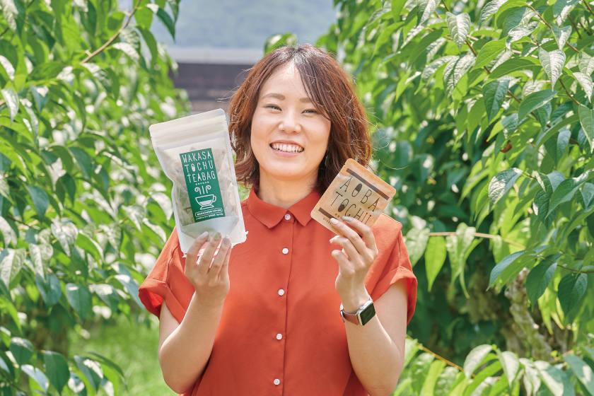 「高浜の魅力が詰まる新しい『杜仲(とちゅう)茶』のパッケージ」。高浜町のフリーランスクリエイター・山本実可子さん【嶺南こんにちは通信】