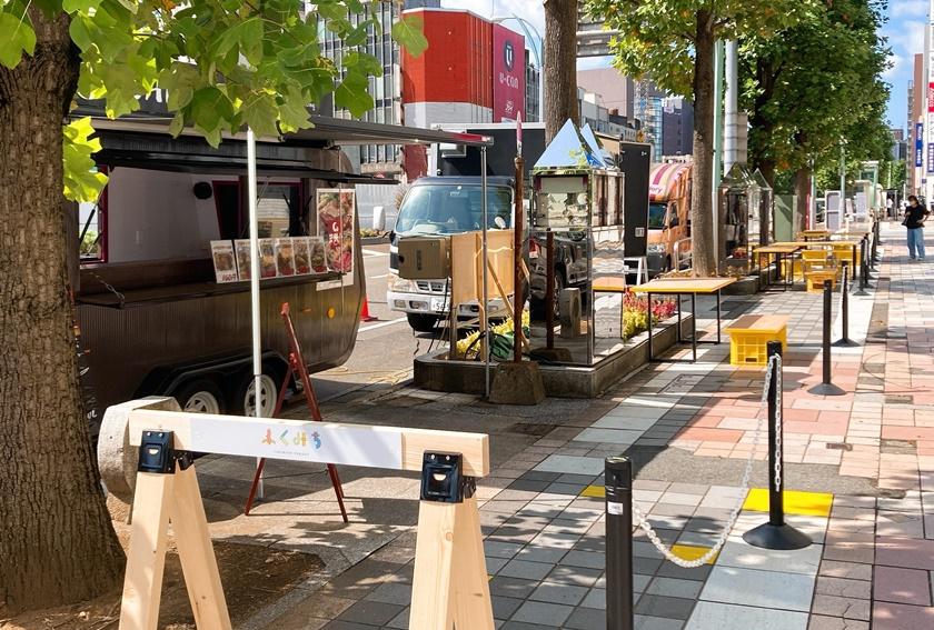 まちのにぎわいは「ふくみち」から! 福井駅前の歩道を利用した社会実験が10/17(日)まで開催中だよ♪【ちょいネタ】